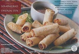 Trader Joe's Lemongrass Chicken Stix (Spring Roll Wrappers Filled with Lemongrass-Flavored Chicken!) (Ready in 3 Minutes!)