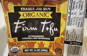 Trader Joe's Organic Firm Tofu