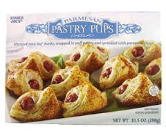 Trader Joe's Parmesan Pastry Pups (Uncured mini beef franks wrapped in puff pastry and sprinkled with parmesan cheese)