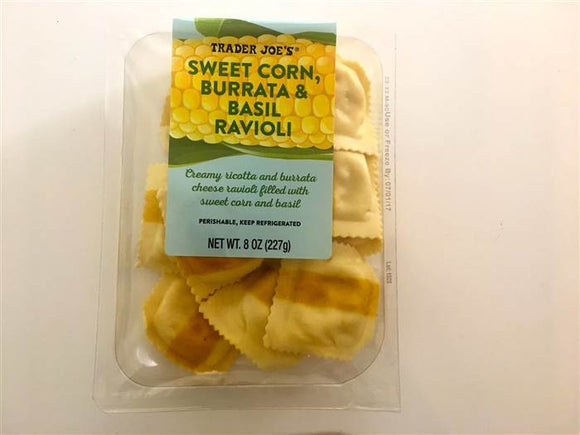 Trader Joe's Sweet Corn, Basil, & Burrata Ravioli