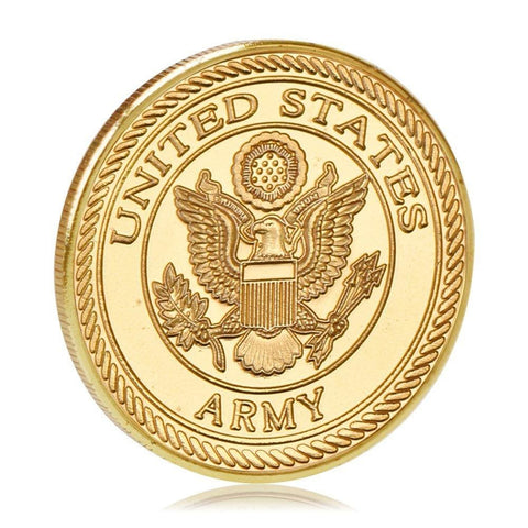 101st Airborne Army Gold Plated Challenge Coin