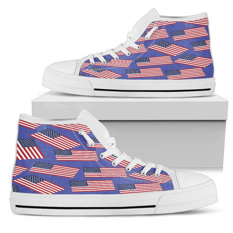 AMERICA'S PRIDE! USA FLAGSHOE - White With Blue