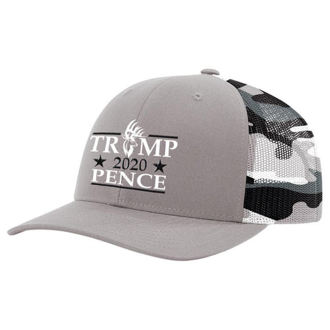 Bucks Trump 2020 Pence Grey Camo Hat