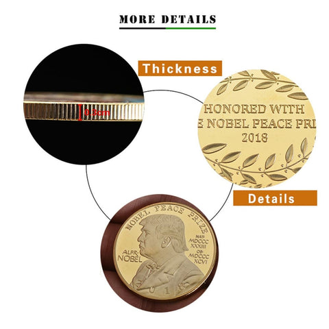 Image of 2018 Donald Trump NOBEL PEACE PRIZE Coin - Coins and Currency