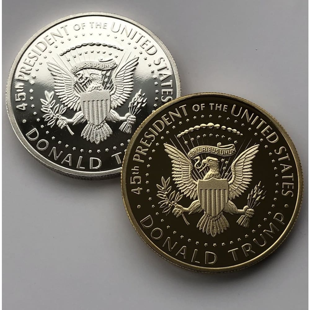 2018 Gold & Silver Coin Set: Donald Trump Profile With Presidential Seal - Coin