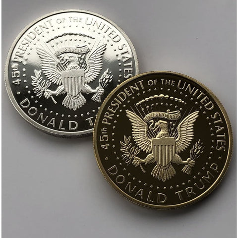 Image of 2018 Gold & Silver Coin Set: Donald Trump Profile With Presidential Seal - Coin
