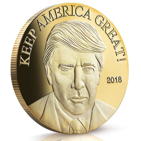 Image of 2018 Keep America Great Trump Challenge Coin - Gold Plated