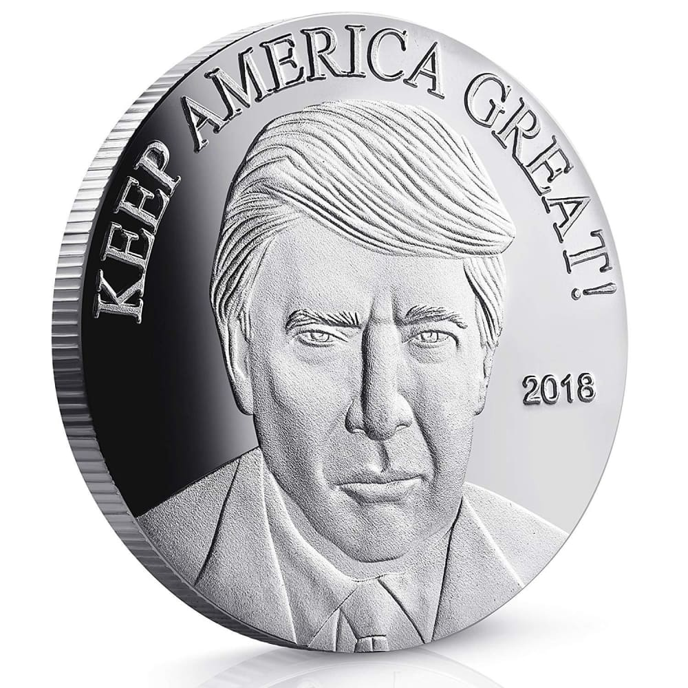 2018 Keep America Great Trump Challenge Coin - Silver Plated