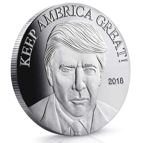 Image of 2018 Keep America Great Trump Challenge Coin - Silver Plated