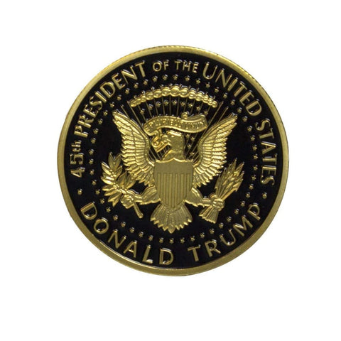 Image of 2018 Limited Edition Donald Trump Coin: 24kt Gold Plated with Black Inlay