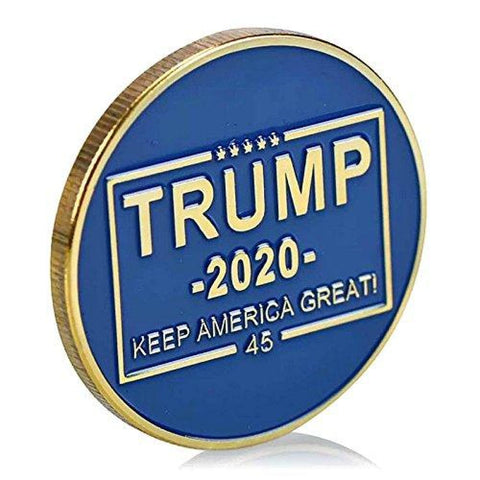 2020 Donald Trump Keep America Great Coin - Blue & Gold - Collectors Edition