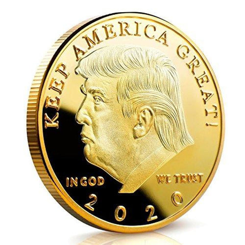 Image of 2020 Donald Trump Keep America Great Coin - Gold Plated - Collectors Edition