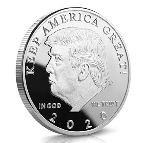 Image of 2020 Donald Trump Keep America Great Coin - Silver Plated - Collectors Edition - Coin