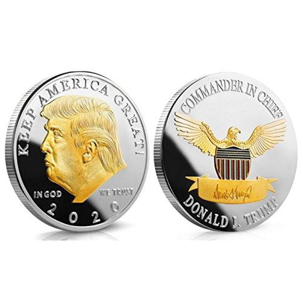 Tende Coin 2020.2020 Donald Trump Keep America Great Coin Two Tone Gold On Silver Collector S Edition