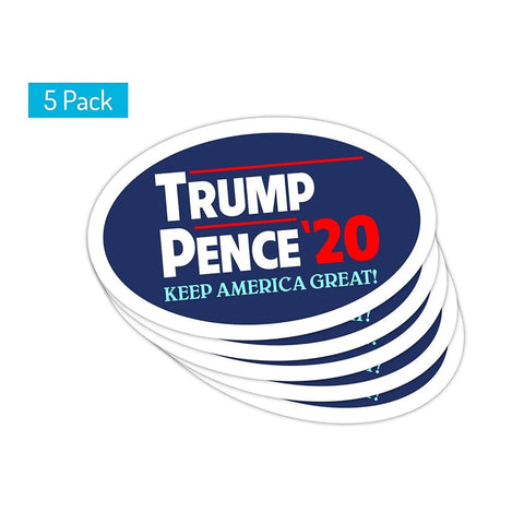 5 Pack! Car Magnet - Trump/Pence 2020 Keep America Great - Car
