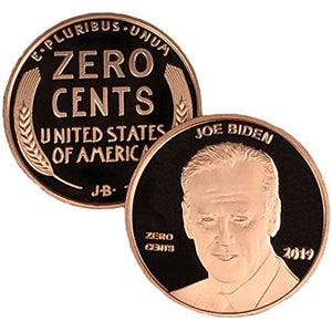 Joe Biden Zero Cents Penny