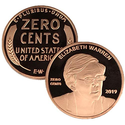 Image of Elizabeth Warren Zero Cents Penny