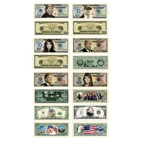 Trump 2020 Bill Set (8 Unique Bills)