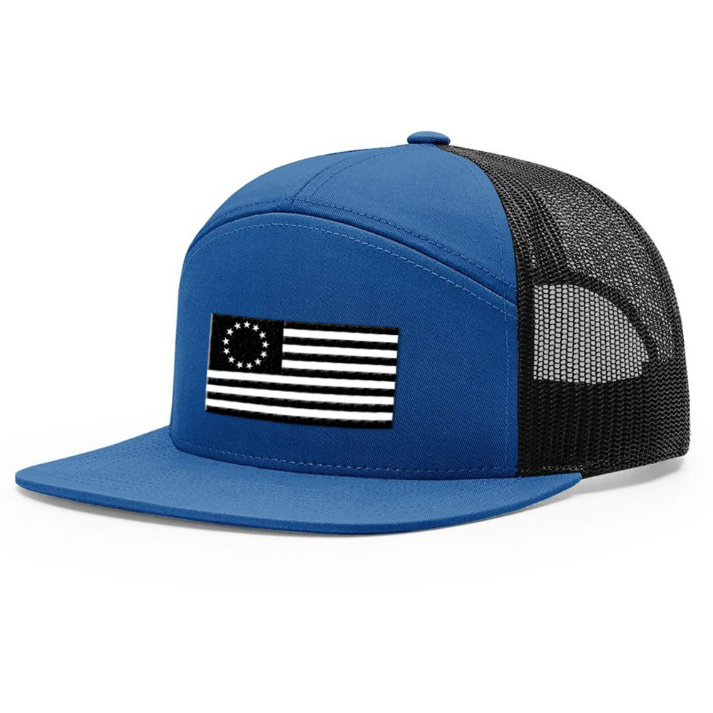 Betsy Ross USA Flag Blue & Black Hat