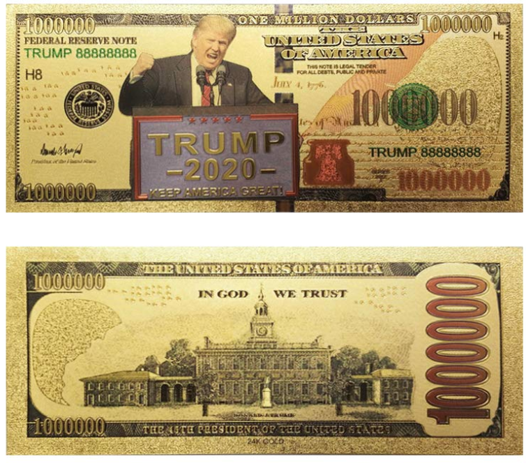 Donald Trump 2020 Re-Election Presidential Bank Note (5-Pack)