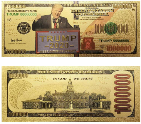 Image of Donald Trump 2020 Re-Election Presidential Bank Note (5-Pack)