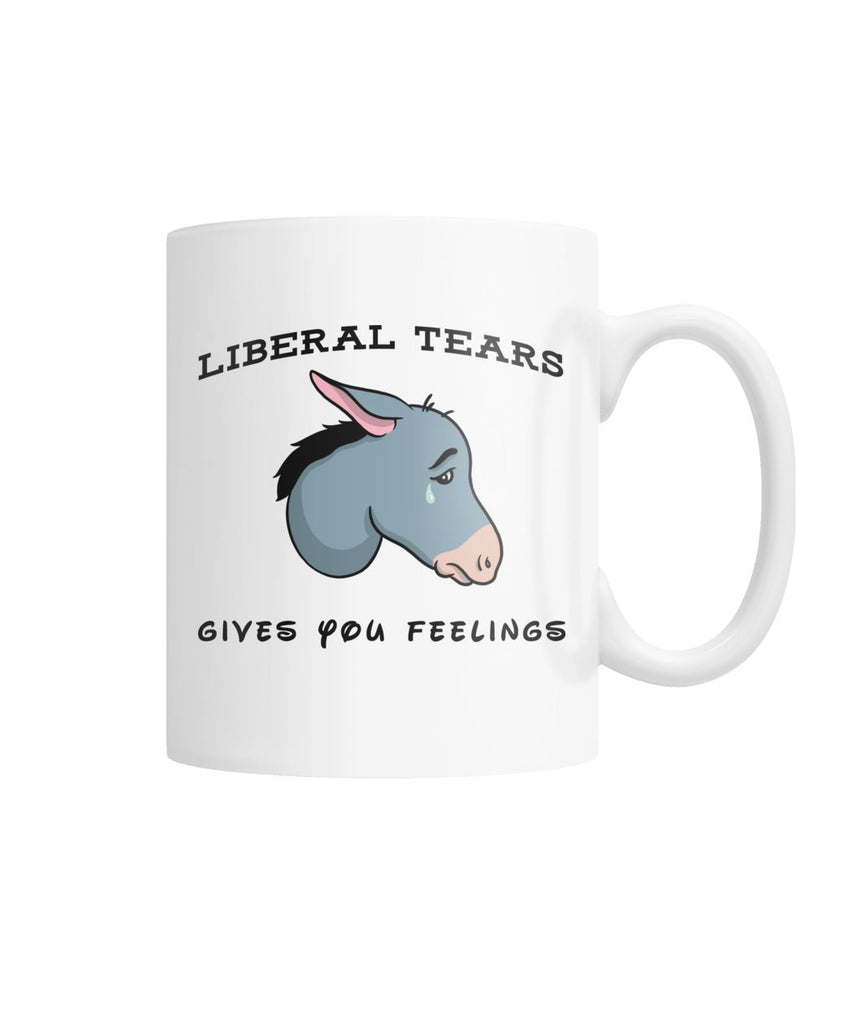 Liberal Tears Donkey White Coffee Mug