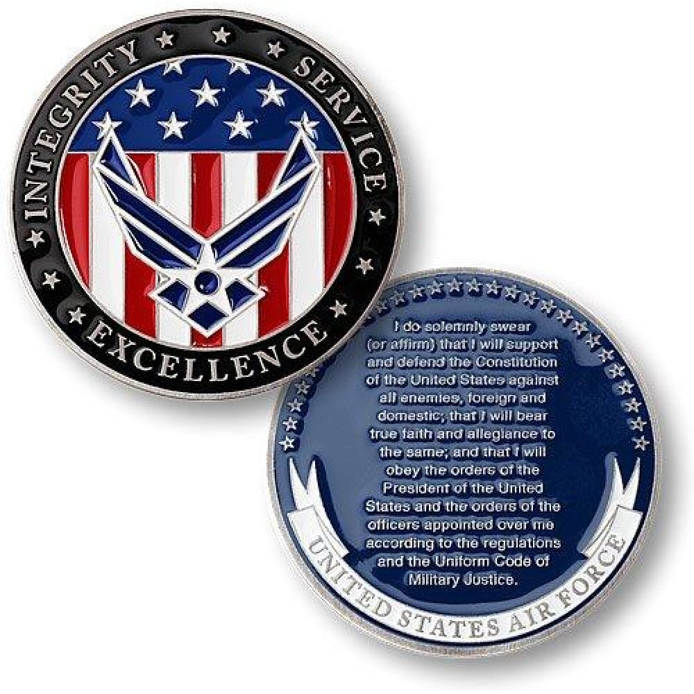 Air Force Oath of Enlistment Challenge Coin - Coin