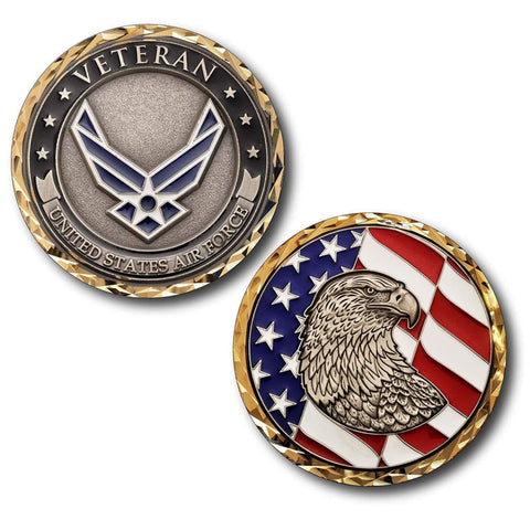 Air Force Veteran Challenge Coin - Coin