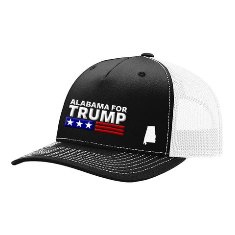 Alabama For Trump - Black & White - Hats