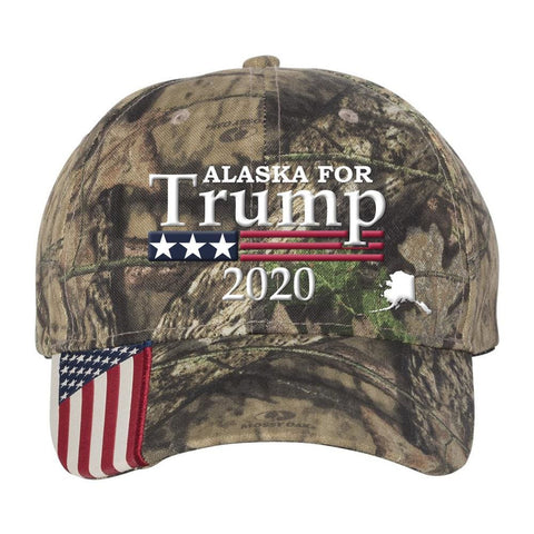 Alaska For Trump 2020 Hat - Mossy Oak Country