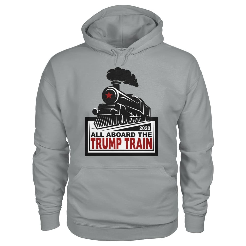 All Aboard the Trump Train Hoodie - Sport Grey / S / Gildan Hoodie - Hoodies