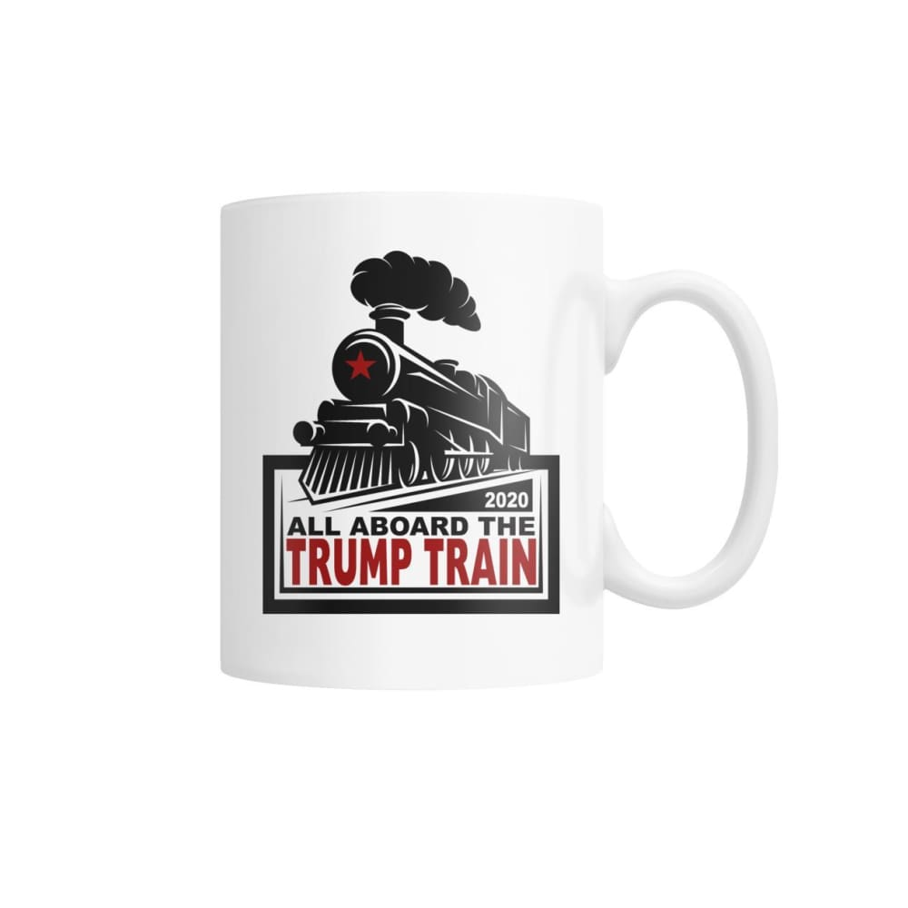 All Aboard the Trump Train Mug White Coffee Mug - Drinkware
