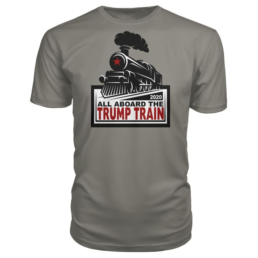 All Aboard the Trump Train Premium Unisex Tee - Charcoal / S / Premium Unisex Tee - Short Sleeves