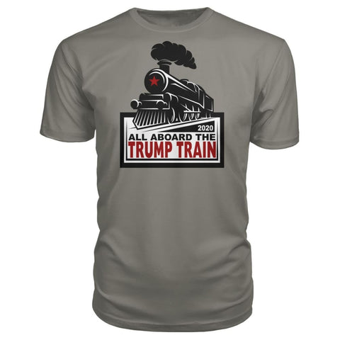 Image of All Aboard the Trump Train Premium Unisex Tee - Charcoal / S / Premium Unisex Tee - Short Sleeves