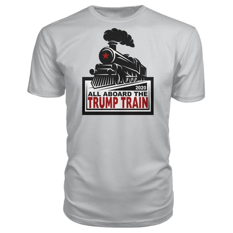 Image of All Aboard the Trump Train Premium Unisex Tee - Silver / S / Premium Unisex Tee - Short Sleeves