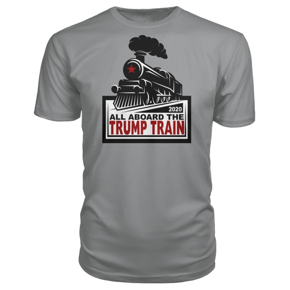 All Aboard the Trump Train Premium Unisex Tee - Storm Grey / S / Premium Unisex Tee - Short Sleeves
