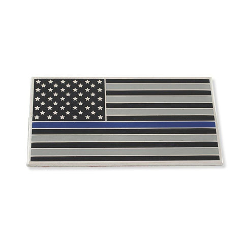 American Flag (Thin Blue Line) Car Bumper Or Wall Adhesive Decal - Car