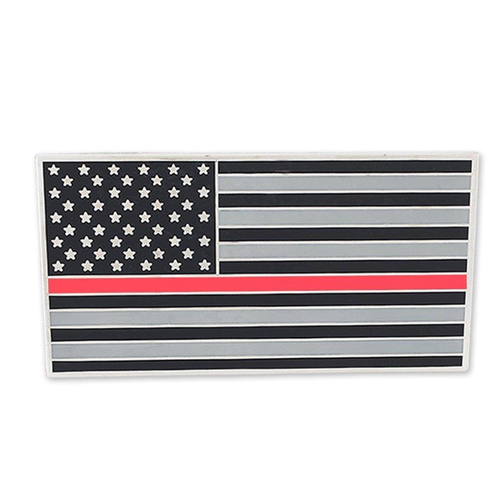 American Flag (Thin Red Line) Car Bumper Or Wall Adhesive Decal - Car