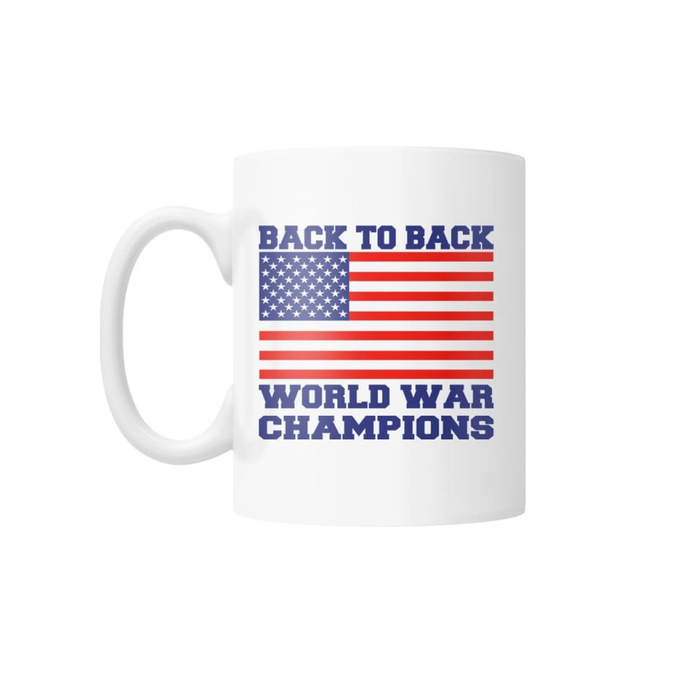 Back to Back World War Champions White Coffee Mug