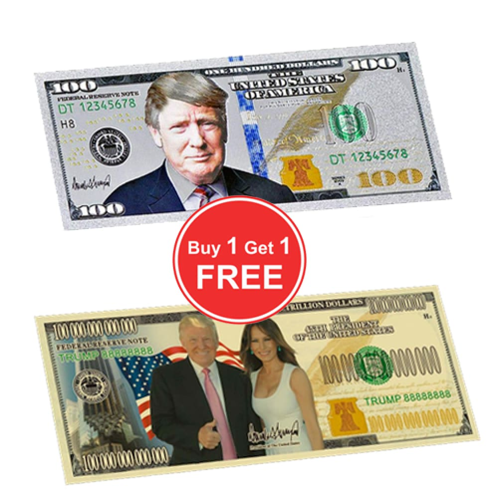 ** BOGO Gold Trump/Melania And Silver $100 Bank Notes ** - Internal Offer