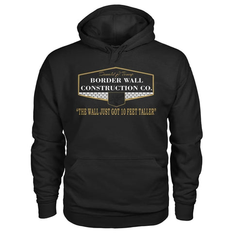 Image of Border Wall Construction Co. Hoodie - Black / S - Hoodies