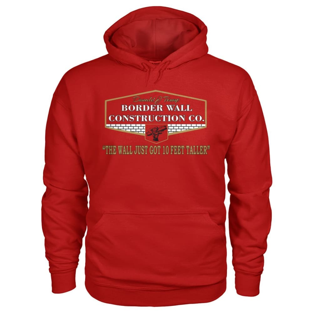 Border Wall Construction Co. Hoodie - Cherry Red / S - Hoodies