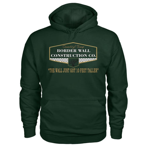 Image of Border Wall Construction Co. Hoodie - Forest Green / S - Hoodies