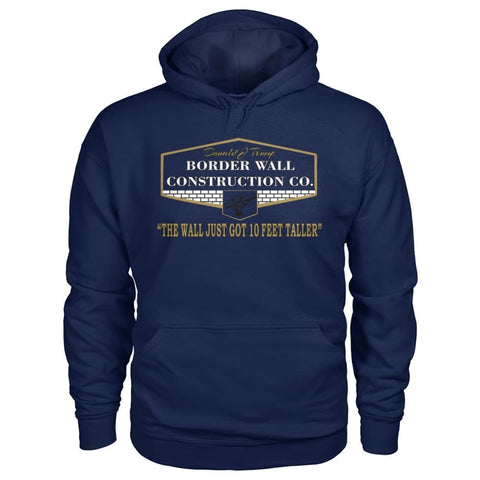 Image of Border Wall Construction Co. Hoodie - Navy / S - Hoodies