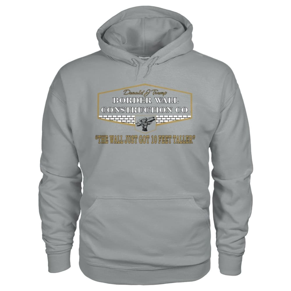 Border Wall Construction Co. Hoodie - Sport Grey / S - Hoodies