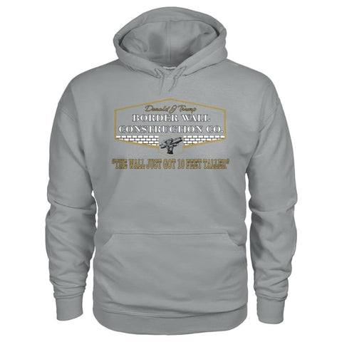 Image of Border Wall Construction Co. Hoodie - Sport Grey / S - Hoodies