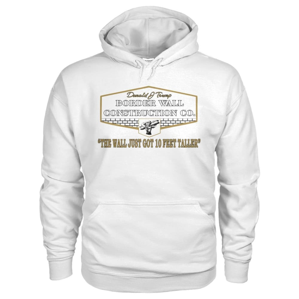Border Wall Construction Co. Hoodie - White / S - Hoodies