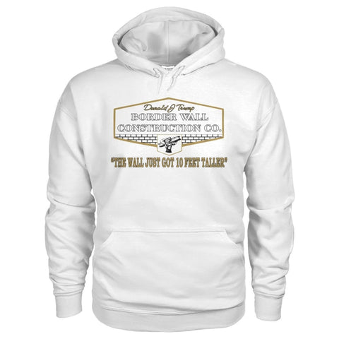 Image of Border Wall Construction Co. Hoodie - White / S - Hoodies