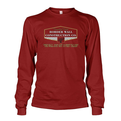 Border Wall Construction Co. Long Sleeve - Cardinal Red / S - Long Sleeves