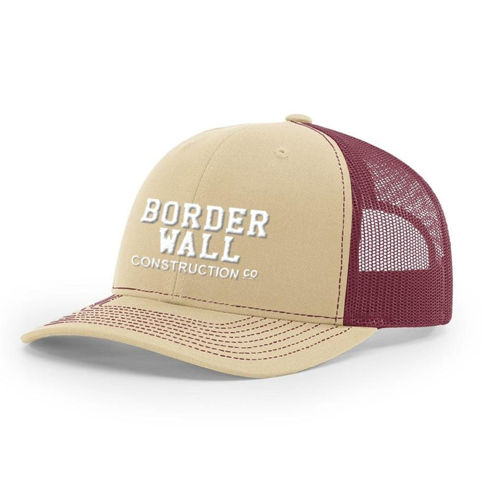 Border Wall Hat - Khaki & Burgundy